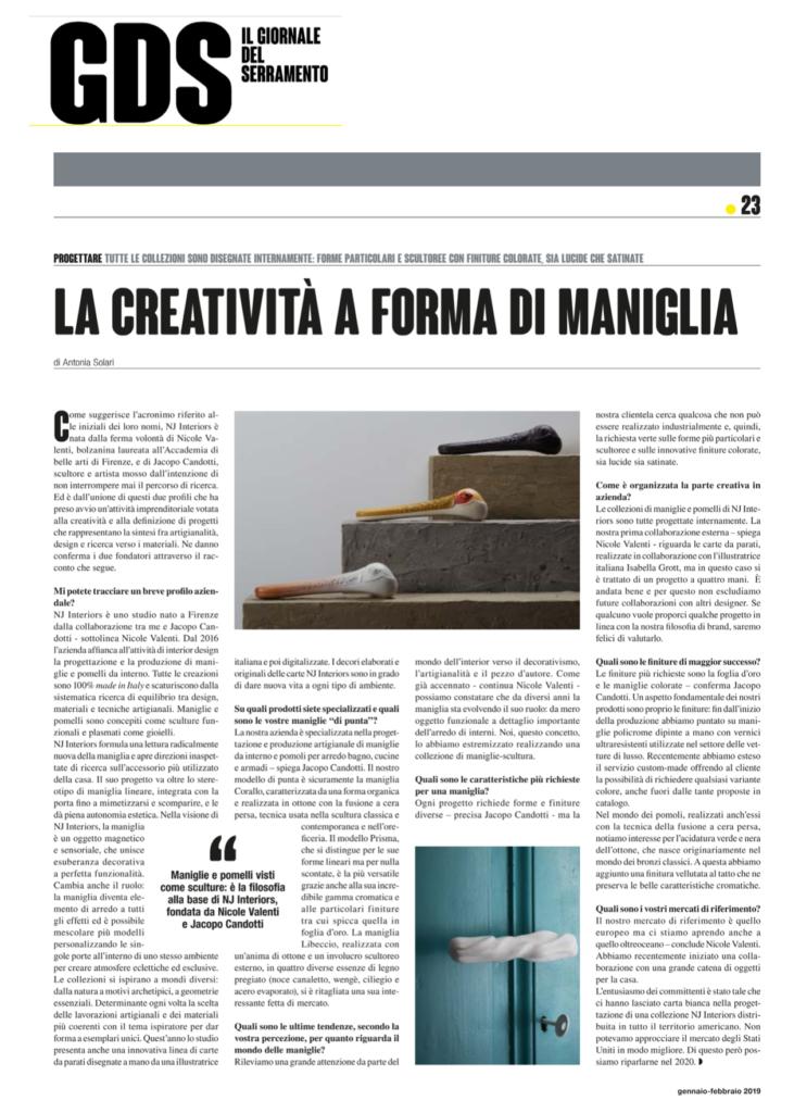 maniglie di design news gds il giornale del serramento niva design