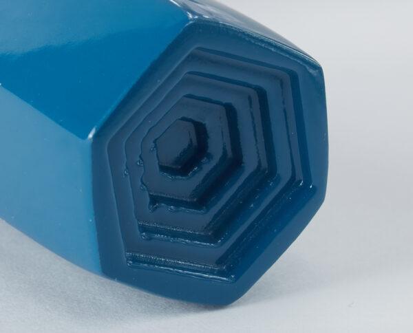 maniglia di design maglia per porte blu lucida geometrico prisma by niva design