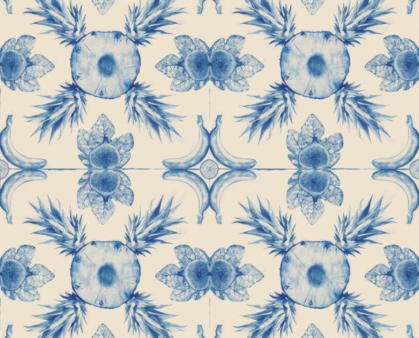 carta da parati modello costarica azul by niva design