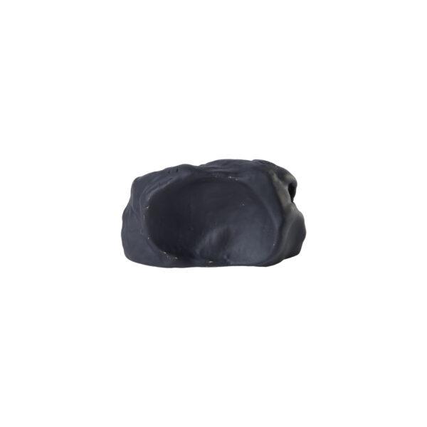 pomello di design pomello per mobili pomello ottone acidato nero modello impronta pietra by niva design