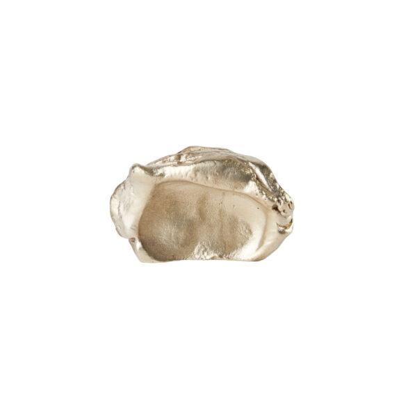 pomello di design pomello per mobili pomello ottone modello impronta pietra by niva design