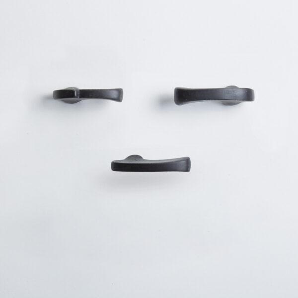 pomello di design pomello per mobili pomello ottone acidato nero modello inca by niva design