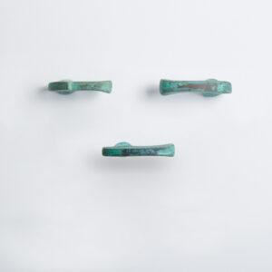 pomello di design pomello per mobili pomello ottone acidato verde modello inca by niva design