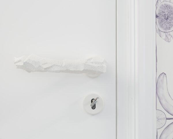 maniglia di design maglia per porte bianca modello lavica by niva design