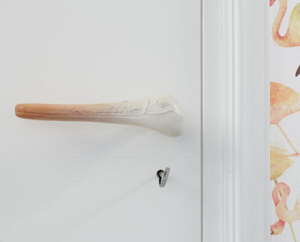 maniglia per porte maniglia di design maniglia in legno ciliegio modello libeccio by niva design