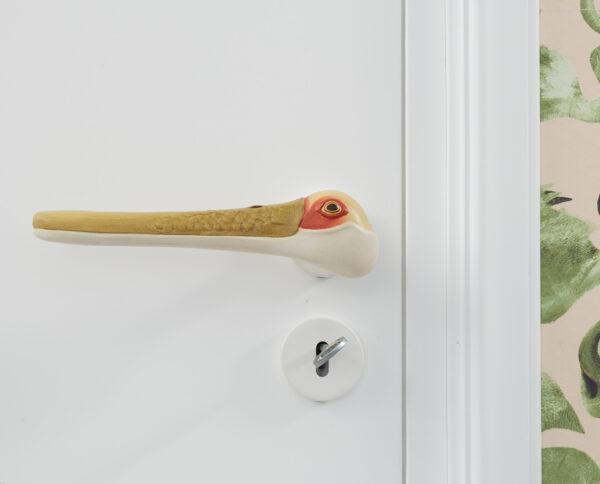maniglia per porte maniglia di design maniglia in legno acero policromo maniglia colorata modello libeccio by niva design