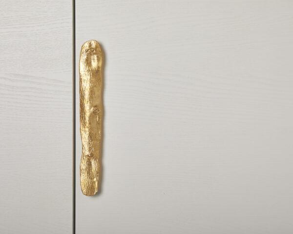 maniglia fissa maniglia per mobili con texture legno modello olmo by niva design