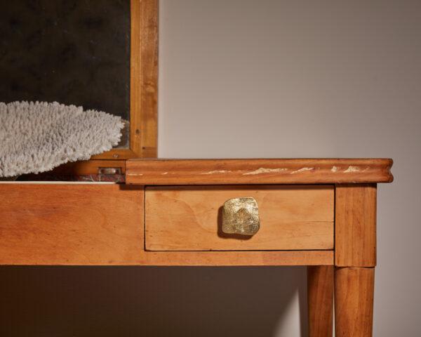 pomello in ottone, pomello per cucine, pomello per mobili modello olmo con texture legno by niva design