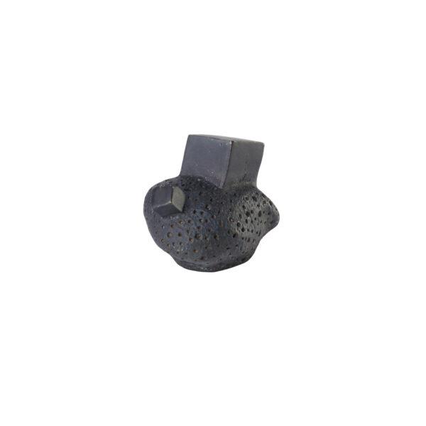 pomello di design pomello per mobili pomello ottone acidato nero modello pietra by niva design