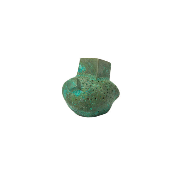 pomello di design pomello per mobili pomello ottone acidato verde modello pietra by niva design