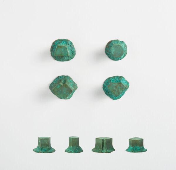 pomello di design pomello per mobili pomello ottone acidato verde modello solido by niva design