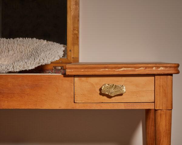 pomello in ottone, pomello per cucine, pomello per mobili modello sambuco con texture legno by niva design