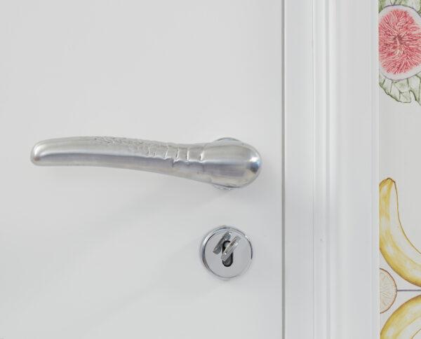 maniglia di design maglia per porte in alluminio modello scaglie by niva design